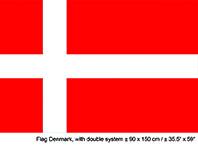 Vlag Denemarken - 90 x 150 cm (62402E)