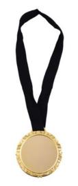 Grote gouden medaille aan lint - 1 stuks (65195E)