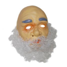 Masker oudere man - witte baard (61329E)