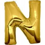 Folie Letter N - 100 cm Goud