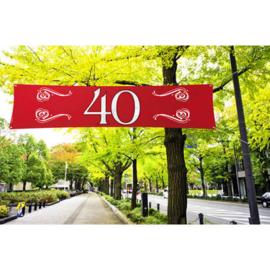 Banner / spandoek Jubileum 40 jaar - 180 x 40 cm (21472F)