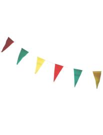 Vlaggenlijn papier Rood Geel Groen 9,6 meter (63516E)
