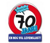 Wenskaart 70 jaar verkeersbord
