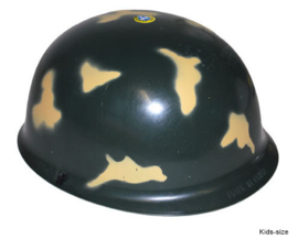 Legerhelm kind  soldaat camouflage (51102E)