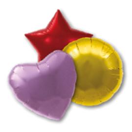 Folie ballon onbedrukt met helium