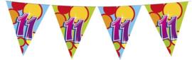 Vlaggenlijn ballonnen 11 jaar (405545H)