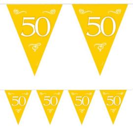 Vlaggenlijn goud 50 - 10 meter (07452F)