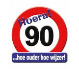 Huldeschild verkeersbord 90 jaar