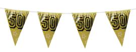 Vlaggenlijn holografisch goud 50  (8 meter)(30051B)