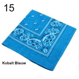 Bandana / boerenzakdoek Kobalt Blauw (100% katoen - 015)