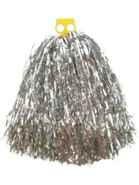 Pom pom cheerleader zilver (84661P)