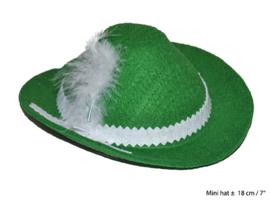 Tiroler hoed mini - 18 cm (62123E)