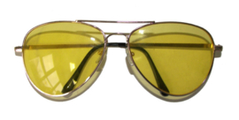 Pilotenbril Geel glas (60588E)
