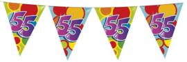Vlaggenlijn ballonnen leeftijd 55 jaar (10 meter)