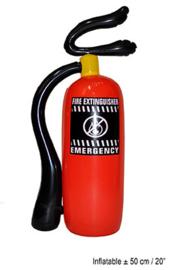 Brandblusser opblaasbaar - 50 cm (51187E)
