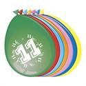 Ballonnen 11 jaar (30cm, 8 stuks)