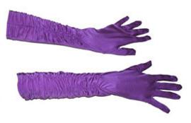 Lange handschoenen met stretch - Paars (60197E)