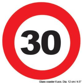 Onderzetters verkeersbord 30 jaar (84418E)