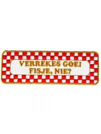 Strijkapplicatie Brabant - Goei fisje (05012B)
