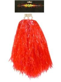 Pom pom cheerleader rood (84698P)
