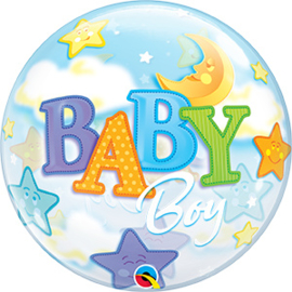Bubble Baby Boy Moon & Stars (23597Q)