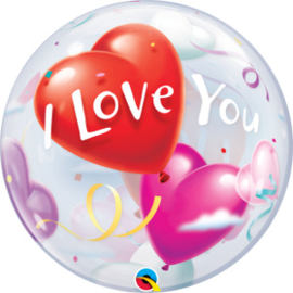 Bubble  I Love You Heart Balloons (16676Q)
