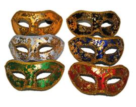 Halfmasker Luxe met versiering (61739E)