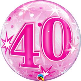 Bubble 40 jaar - Pink Starburst Sparkle  (43125Q)