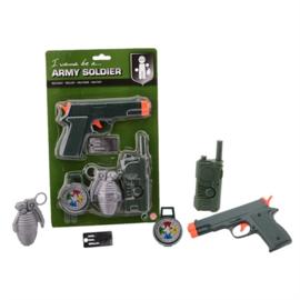 Legerset soldaat/army 5-delig (26976J-W)