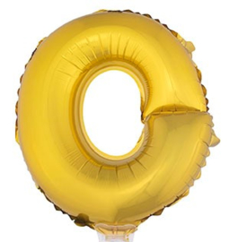 Folie Letter O - 41 cm Goud (met stokje)