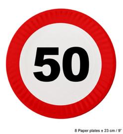 Bordjes verkeersbord 50 jaar (84616E)