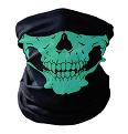 Mond- en halsdoek Skull Groen (2350GF)
