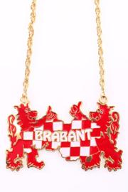 Ketting wapen Brabant rood/wit (25714P)