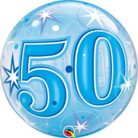 Bubble 50 jaar - Blue Starburst Sparkle  (48447Q)