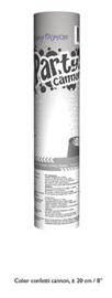 Confetti shooter wit 20 cm (white-66272E)