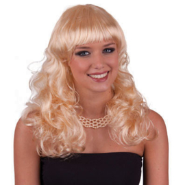 Pruik Natural Curly Blond (57493E)