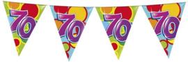 Vlaggenlijn ballonnen leeftijd 70 jaar (10 meter)