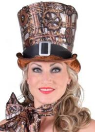Hoge hoed Steampunk met gesp Maat 58 (217301F)