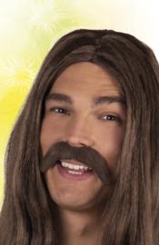 Snor Hippie donkerbruin (01812B)