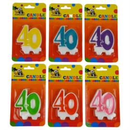 Nummerkaars / cijferkaars 40 jaar (15365W)