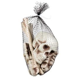 Doodshoofd en beenderen in zak (72157B)