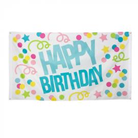 Vlag Happy Birthday -  90 x 150 cm (31001B)