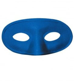 Ovaal oogmasker Blauw - 16 cm (0999GF)
