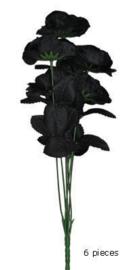 Boeket 6 zwarte rozen (74680E)