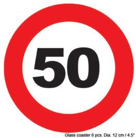 Onderzetters verkeersbord 50 jaar (84420E)