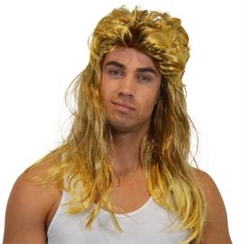 Pruik met matje Goud-Blond (30098W)