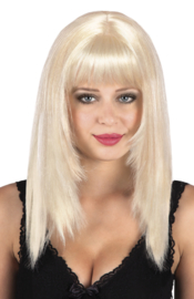 Pruik Spicy Platina Blond (86305B)