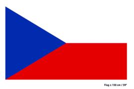 Vlag Tjechië - 90 x 150 cm (62335E)