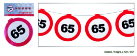 Vlaggenlijn 65 jaar Verkeersbord - 12  meter (84973E)