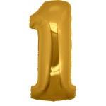 Folie Cijfer 1 - 100 cm Goud